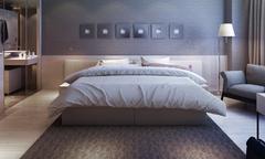 Bedroom interior, modern style Stock Illustration