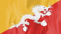 Animated flag of Bhutan Stock Footage