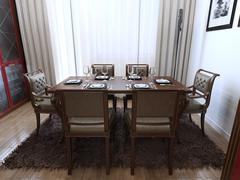 Dining room Art Deco style - stock illustration