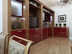 Kitchen in the Art Deco style Stock Illustration