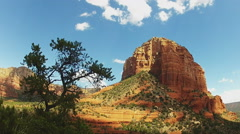Viewpoint Hiker In Sedona Arizona Bell Rock Hiking Area Stock Footage