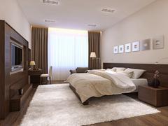 Stock Illustration of Bedroom interior minimalism style
