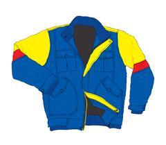 Winter Wear Fashion - Casual Jacket Vector Illustration Stock Illustration