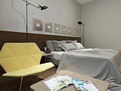Stock Illustration of Bedroom high-tech style