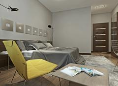 Bedroom constructivism style Stock Illustration