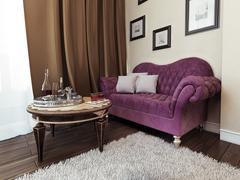 Sofa in bedroom avant-garde style Stock Illustration