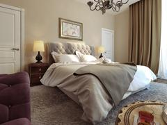 Bedroom Gothic style - stock illustration