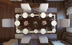Dining room classical style - stock illustration