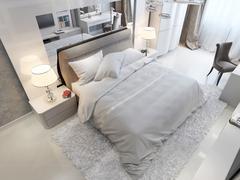 Bedroom modern style Stock Illustration
