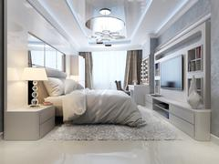 Stock Illustration of Bedroom in classic and art deco style