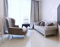 Stock Illustration of lounge area Art Deco style