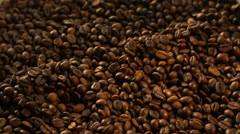 Beans of coffee raining at Slow Motion 1500fps Stock Footage