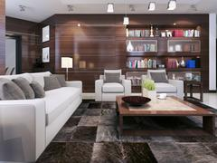 Living room contemporary style - stock illustration