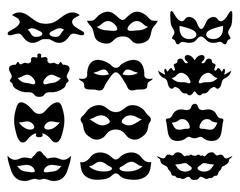 Festive masks Stock Illustration