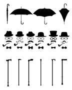 Gentleman icon - stock illustration