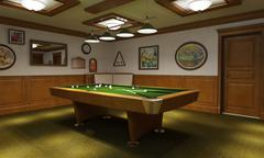 Billiard room classical style - stock illustration