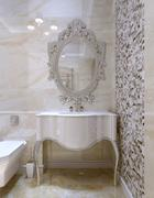 Classical style bathroom - stock illustration