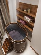 Bathing room rustic style - stock illustration