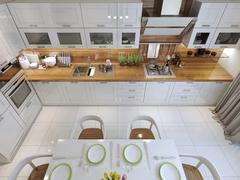 Stock Illustration of Kitchen style minimalism