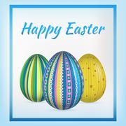 Happy Easter card. Vector illustration Stock Illustration