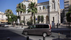 Limassol Cathedral Church in Cyprus Stock Footage