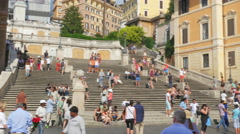 ROME - ITALY, AUGUST 2015: spanish square view Stock Footage