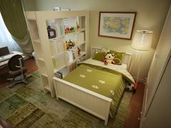Children's room for boy modern style Stock Illustration