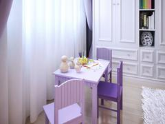 Children's room for girls classic style - stock illustration