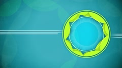 Abstract shape circles animation with lines. Stock Footage