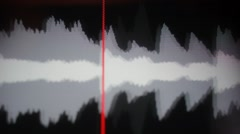 Sound track visualization on computer screen Stock Footage