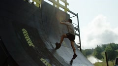 Young Athletes Competing in an Adventure Race Stock Footage