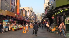 Traditional Namdaemun Market (Jung-gu district) in Seoul, South Korea. Stock Footage