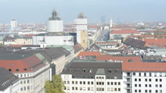 View to Feldherrenhalle from top of Munich Town hall Stock Footage