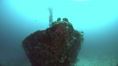 Alma Jane wreck in Puerto Galera, Philippines. 4k Stock Footage