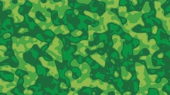 Camouflage army background loop green forest style - stock footage