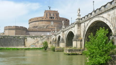 Castel sant'angelo, castle of the holy angel, rome, italy, 4k Stock Footage