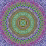 Mandal explosion - geometric floral design Stock Illustration