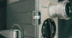 Shooting Footage on Film Camera Stock Footage