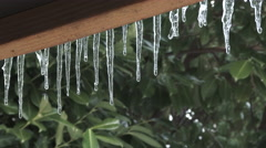 Melting Icicles Stock Footage