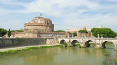 Stock Video Footage of castel sant'angelo, castle of the holy angel, rome, italy, 4k