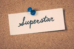 superstar - stock photo