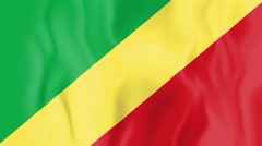 Animated flag of the Free Republic of the Congo Stock Footage