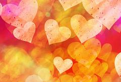 Multicolored hearts background of a Love symbol Stock Illustration