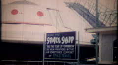 3061 - space ship rides at local amusement park - vintage film home movie - stock footage