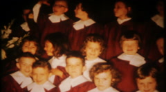 3060 church choir sings hymns on Sunday morning - vintage film home movie - stock footage