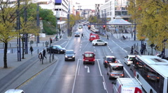 City traffic in downtown Offenbach Germany 4k Stock Footage