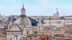 Rome panorama view, italy, 4k Stock Footage