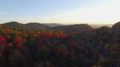 4k cinematic epic aerial of blue ridge mountains at sunrise Stock Footage