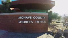Mohave County Sheriff Department Sign- Kingman Arizona Stock Footage
