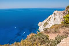 Cliff coast of Zakynthos Island Stock Photos